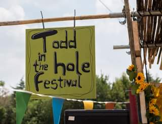 """May be an image of outdoors and text that says """"Todd add the hole Festival"""""""