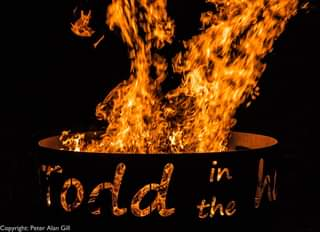 """May be an image of fire, outdoors and text that says """"Copyright: Peter Alan Gill"""""""