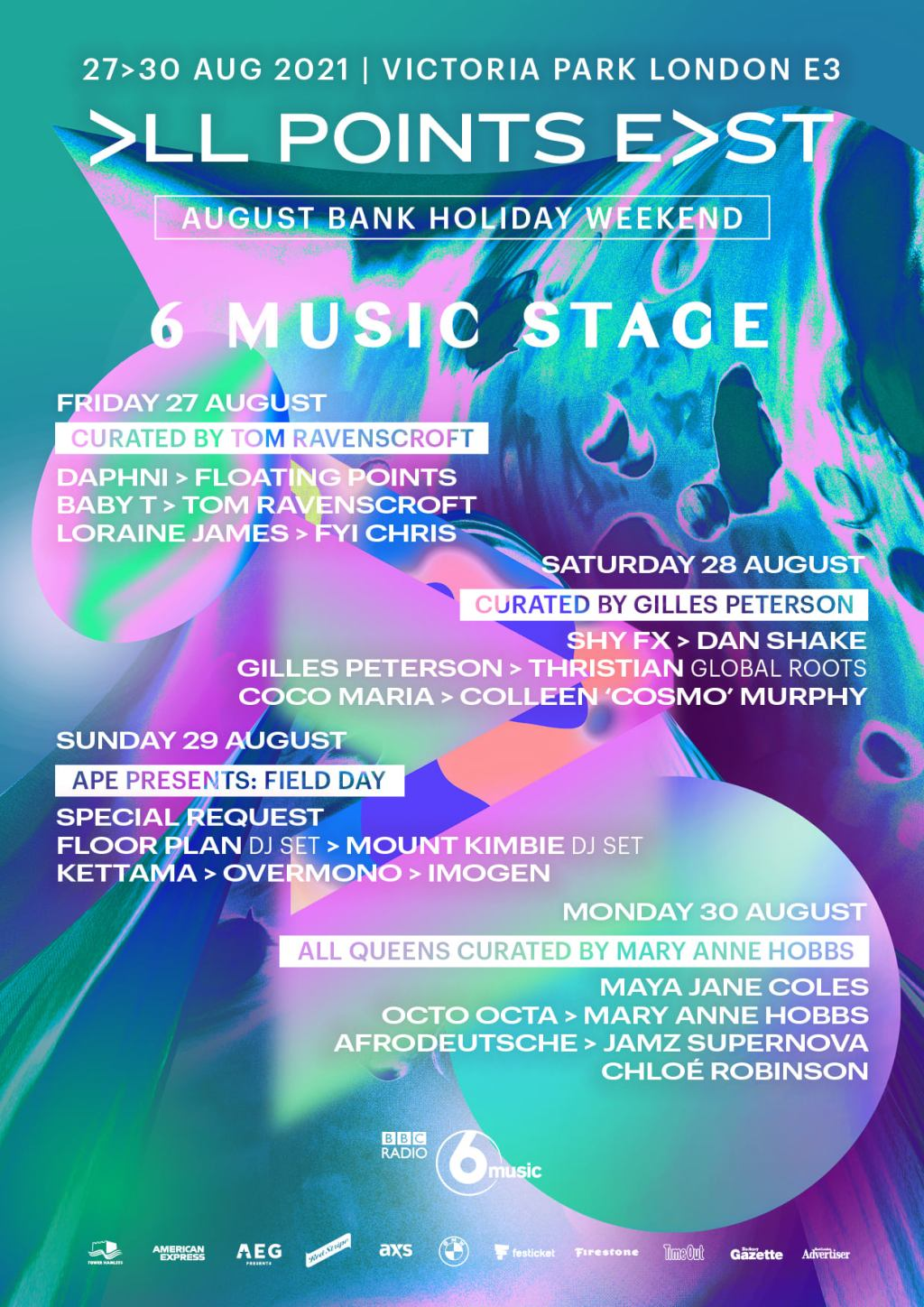 We're thrilled to welcome BBC Radio 6 Music to All Points East this summer. The 6 Music Stage will ...