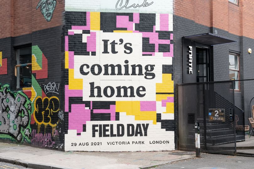 It's coming home, and so is Field Day  Victoria Park, August Bank Holiday Sunday...