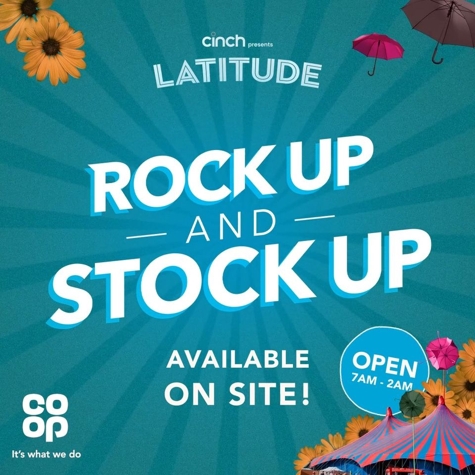 The Co-op festival store is back for 2021 and will be in the campsite village ev...