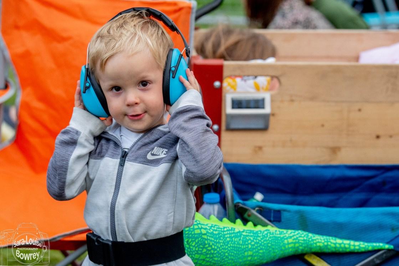 Camp Bestival baby with headphones