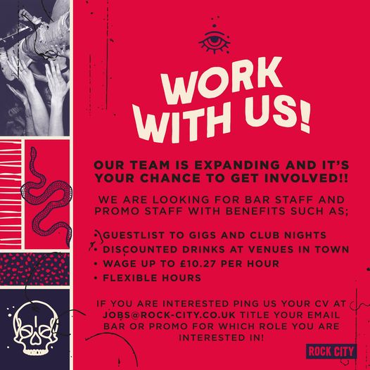 Fancy working for one of the world's best gig venues? The guys over at ROCK CITY...