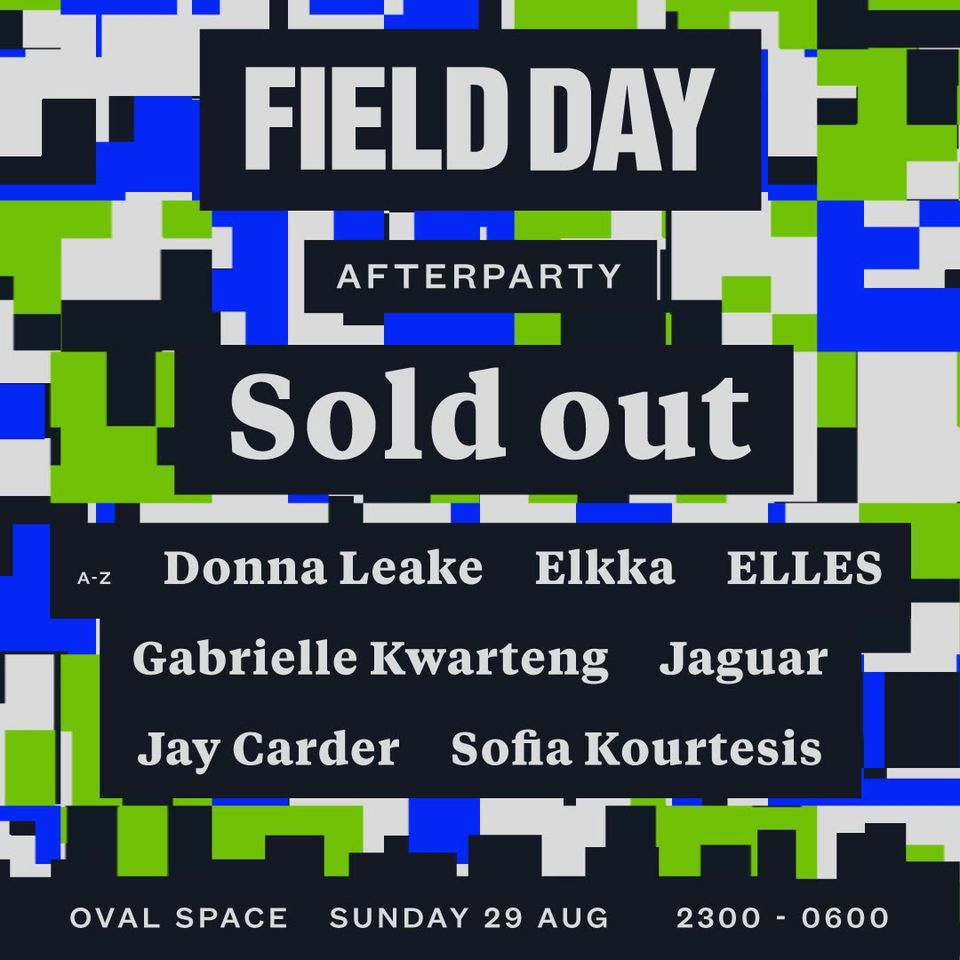 The Field Day Afterparty at Oval Space is officially sold out.  Only three weeks...