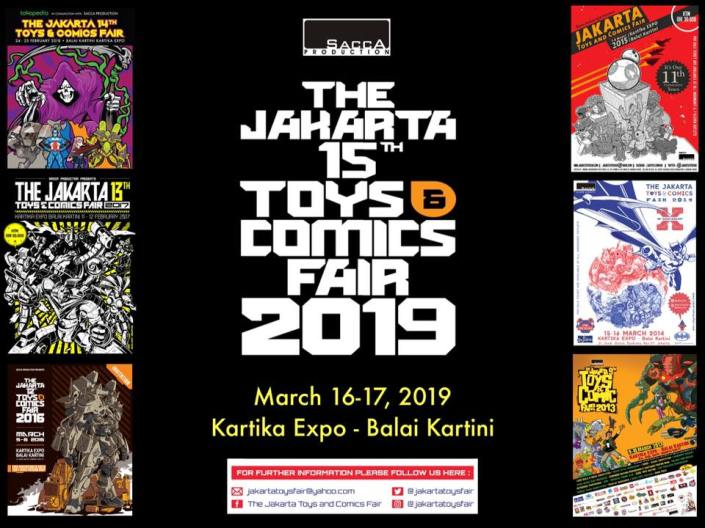 The Jakarta 15th Toys Comics Fair 2019 Informasi