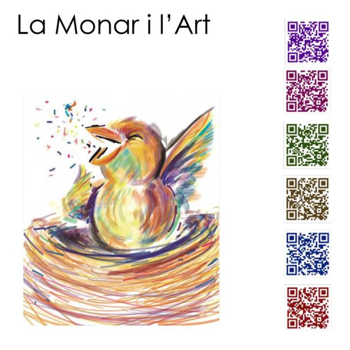 Monarch and Art, A Tale by Lobna Dahech and Clara Carrera Illustrations by Pau Morales QRs