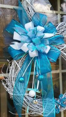 Blue Grapevine Snowman Wreath Texas Canyon Design