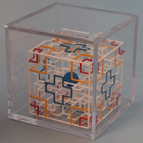 Rolling Ball Maze Puzzle Cube With Hand Painted 3d