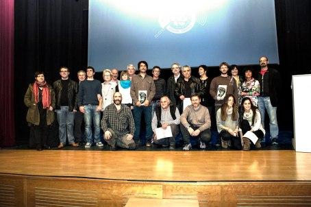 Foto de família. Organitzadors, membres del jurat, finalistes i guanyadors.