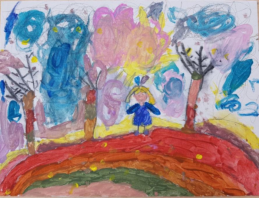 Fetița în Albastru