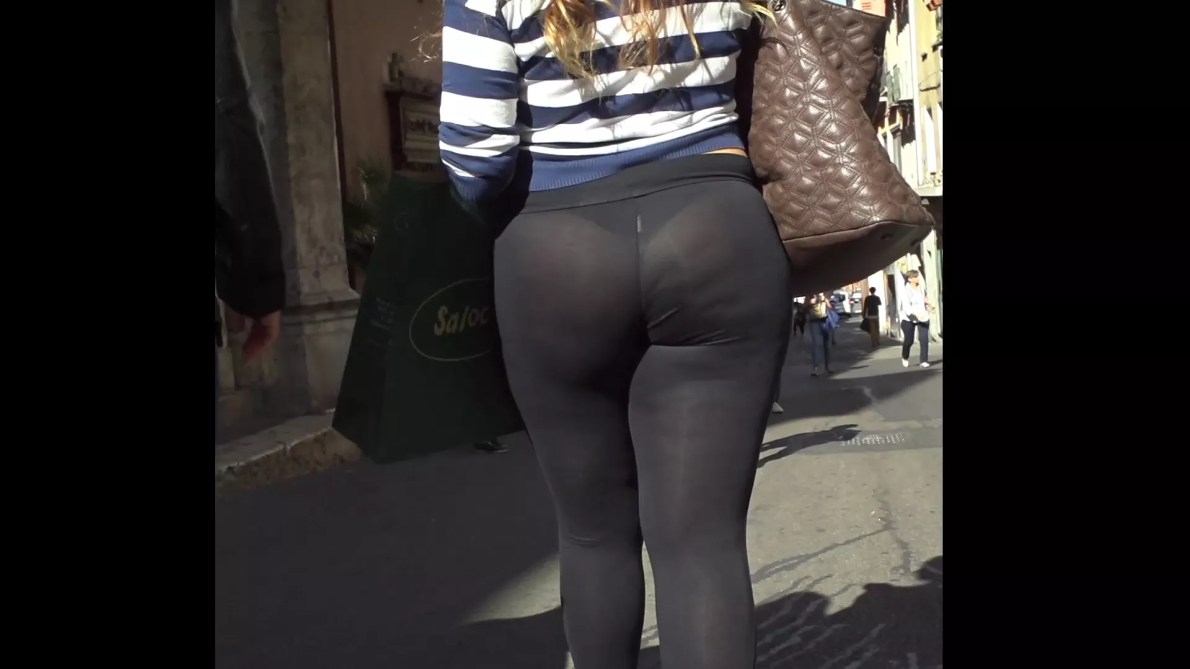 Big Ass Teen In See Thru Leggings