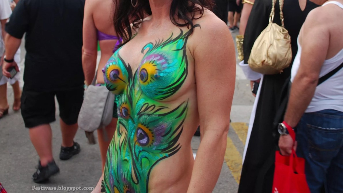 Sexy Body Paint And G-String