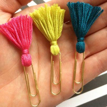 paper clip tassel