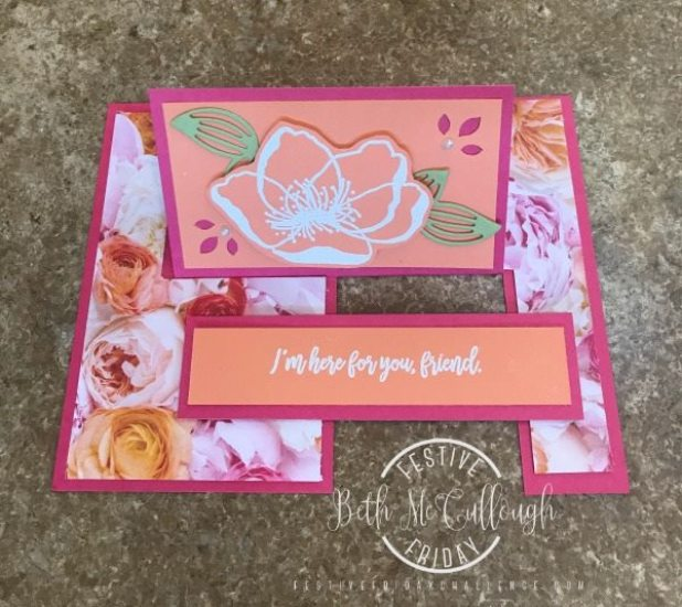 #FF0017, Festive Friday Challenge Designer- Beth McCullough, Stampin Up, World Card Making Day