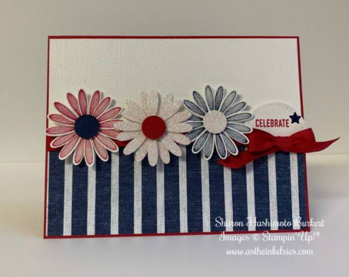 #FF0036, Festive Friday Challenge Designer- Sharon Hashimoto Burkert , Summer, 4th of July