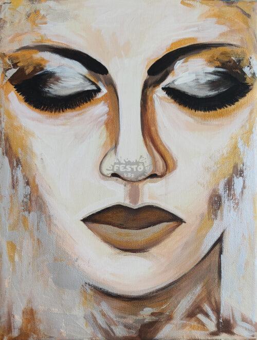 Golden Face Festő köz módra
