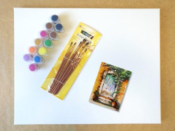 Mediterrán porta - Otthoni élményfestő csomag