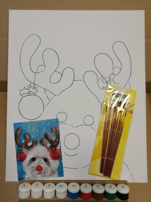 Rudolf kutya otthoni élményfestő szett