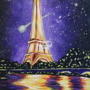 Eiffel torony otthoni élményfestő szett