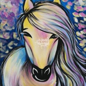 Színes ló otthoni élményfestő szett gyerekeknek