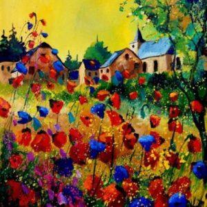 Pipacsok és búzavirágok
