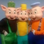 personagem para festa infantil os Tres Porquinhos