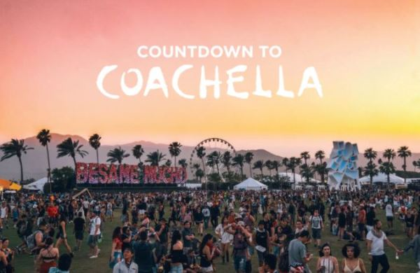 Coachella countdown 2018 Indio,CA