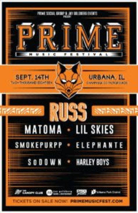 Prime Music Festival 2018 Lineup Announcement for Urbana Illinios