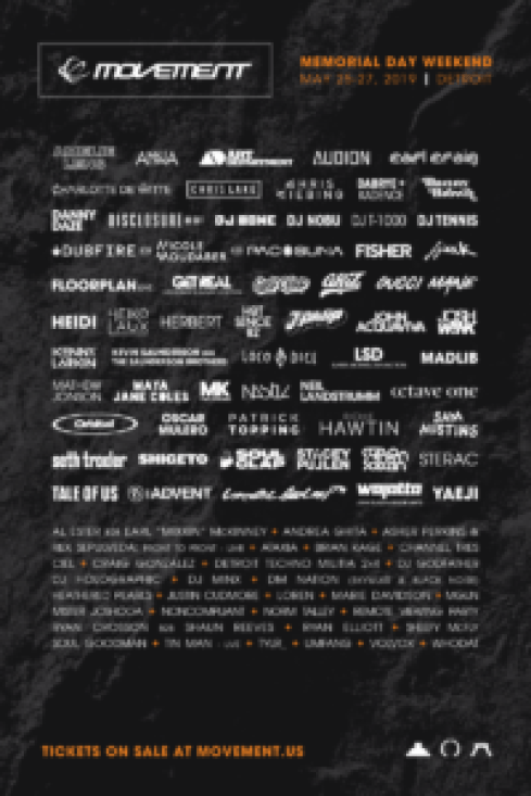 Movement 2019 Lineup Poster