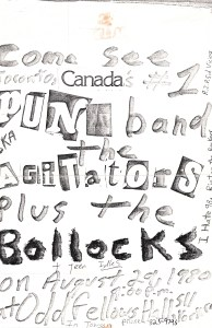 Bollocks poster Agitators and Teen Idles