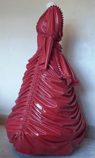 Latex Dress Steampunk Victorian Wedding Ball Gown
