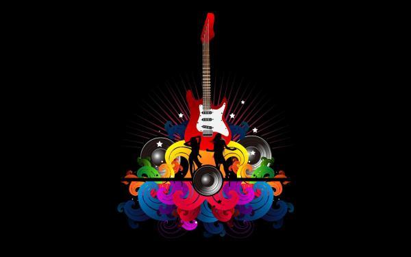 Music Abstract Guitar Art