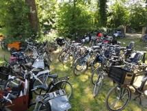 Allemaal op de fiets gekomen. Hartstikke goed!