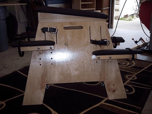 fetish furniture bondage horse/ clear-natural finish