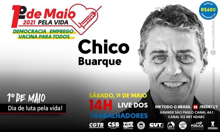 Centrais sindicais realizam 1° de Maio unificado com Lula, Dilma e Chico Buarque
