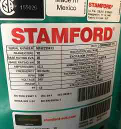 20kw stamford alternator [ 3024 x 4032 Pixel ]
