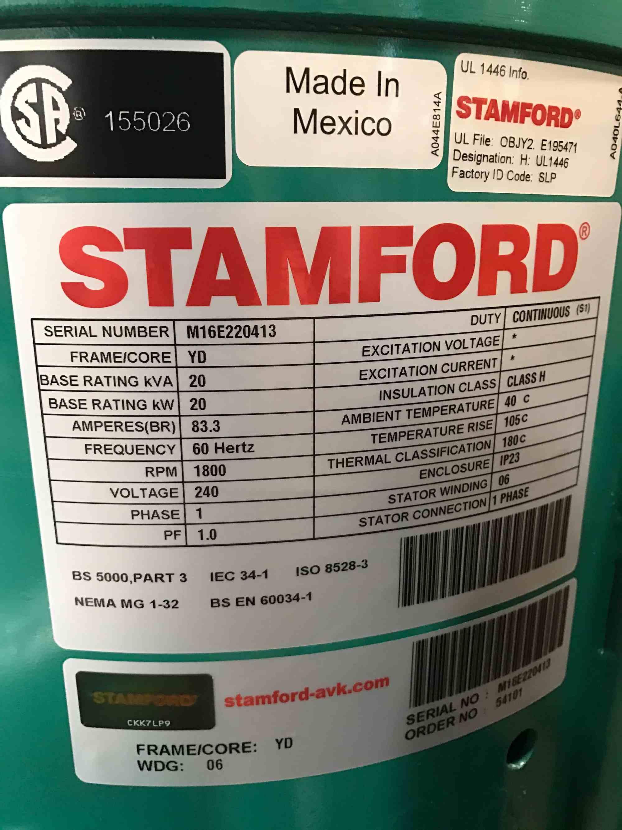 hight resolution of 20kw stamford alternator