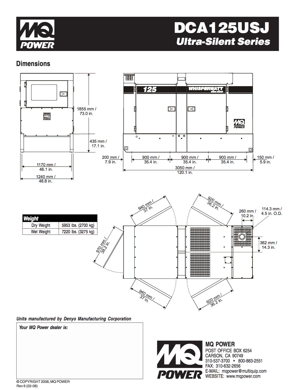 100kw Mq Dca125 Mobilesel Generator