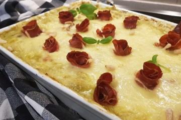Kyllingform med pesto og pasta (lavkarbo)