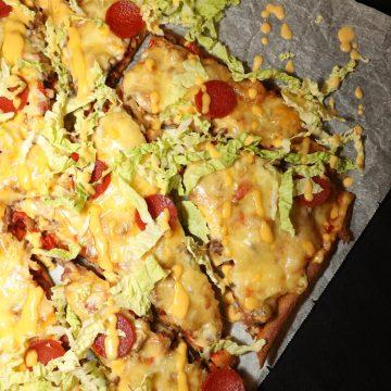 Lavkarbopizza (nøttefri bunn)