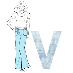 Jeans V-Figur