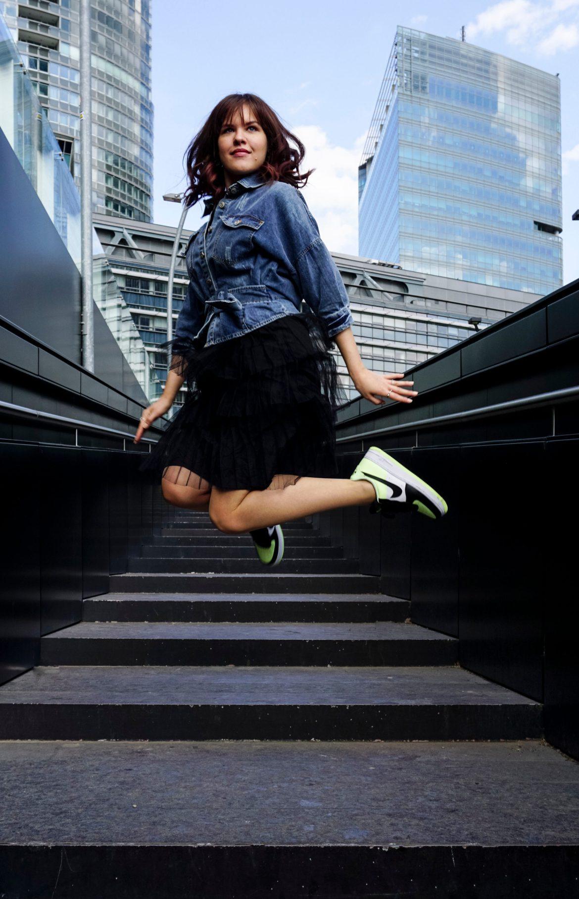 Sneaker mit Kleid kombinieren Nike Air Force 1