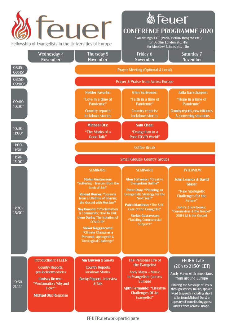 FEUER 2020 timetable