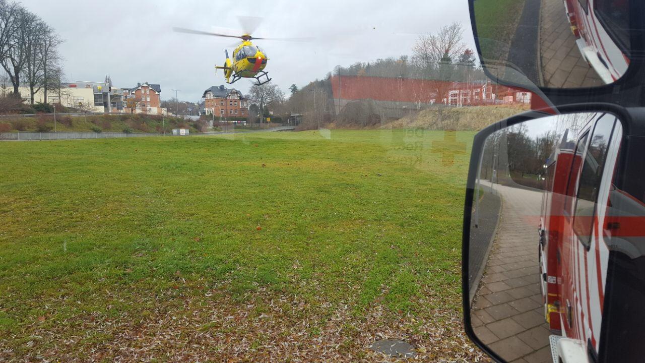 Absicherung Hubschrauberlandung
