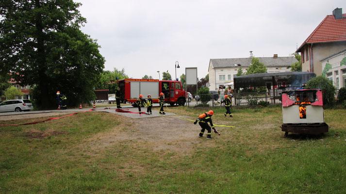 Übung Kinderfeuerwehr am 02.06.18