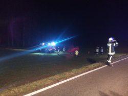 Verkehrsunfall zwischen Rieblingen und Asbach.