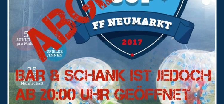Bubblesoccer Cup 2017 ABGESAGT!