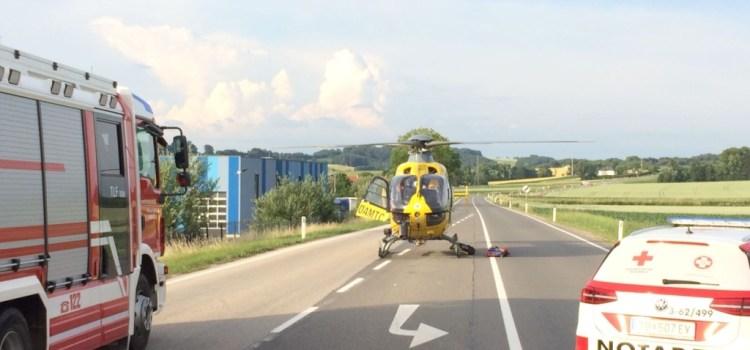 Verkehrunfall auf der B1 in Kemmelbach
