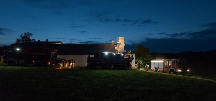 Brandeinsatzübung Fa. Mayer in Petzenkirchen