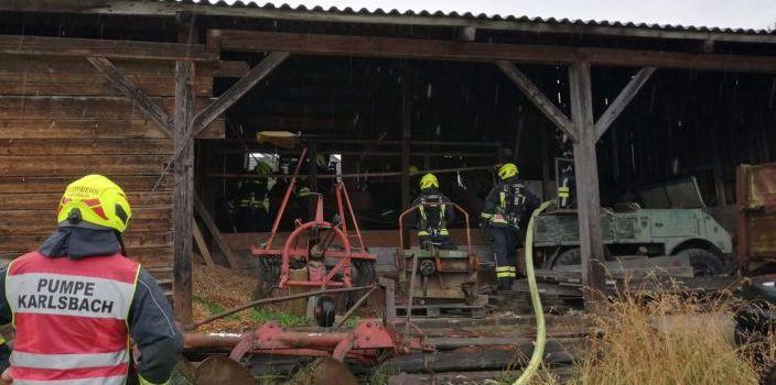 Brand einer Getreidetrocknungsanlage am Mehlberg